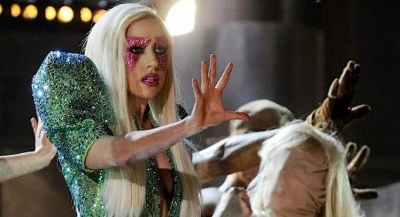 What did Lady Gaga do in tonights episode of Jay Leno?
