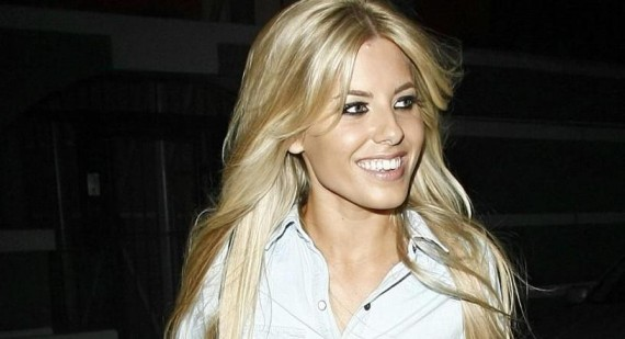 Where did Mollie King get her nude polka dot dress?