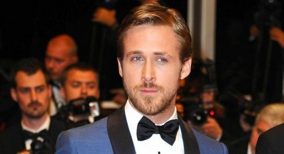 Who is Ryan Gosling with in this picture?
