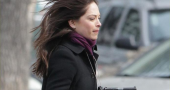 Kristin Kreuk shows gun skills in Beauty and the Beast pics