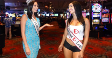 Miss Nevada USA and Miss D Legs in a photo shoot at the D Casino Hotel Las Vegas